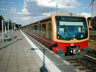Berlin S-Bahn - A modern S-Bahn train at Griebnitzsee