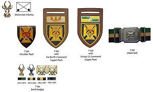 7 South African Infantry Battalion - SADF era 7 SAI insignia