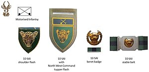 10 South African Infantry Battalion - SANDF early era 10 SAI insignia