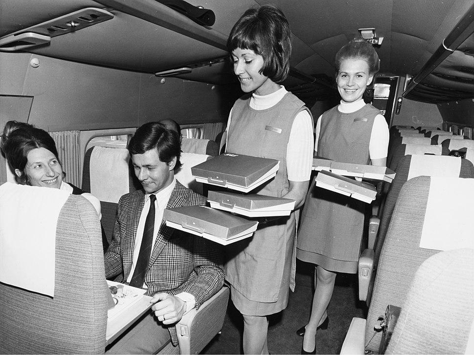SAS DC-9, interior of cabin