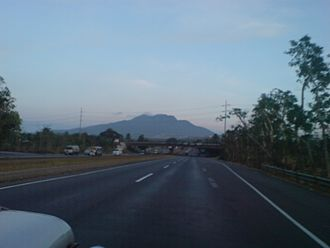 Mount Makiling - Mount Makiling's north face as seen heading south on South Luzon Expressway's Exit 50 – Calamba Interchange