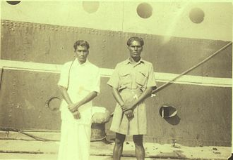 """Malaysian Indians - SS Rajula, operating her fortnightly """"Straits Service"""" between Madras to Penang, Port Klang and Singapore from 1926 to 1972. The vessel transported many Indian migrants between South India to then-British Malaya as well as independent Malaysia."""