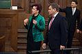 Saeimu oficiālā vizītē apmeklē jaunievēlētais Lietuvas Seima priekšsēdētājs (8266742908).jpg