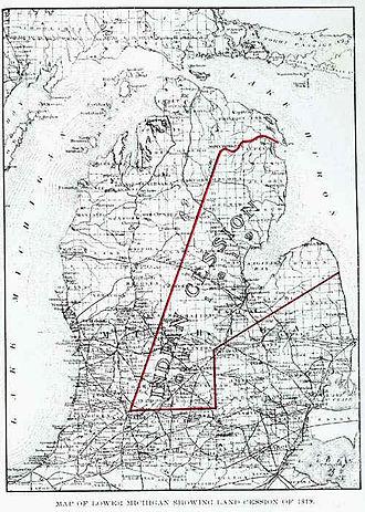 Treaty of Saginaw - The territorial effects of the Treaty of Saginaw.