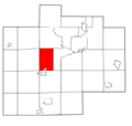 Saginaw County Michigan townships Swan Creek highlighted.png