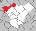 Saint-Séverin (Chaudière-Appalaches) Quebec location diagram.png