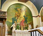 Saint Anthony Catholic Church (Temperance, MI) - interior, mural, removing Christ from the cross.jpg