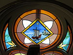 Saint Anthony Catholic Church (Temperance, MI) - stained glass, Barque of Peter.jpg