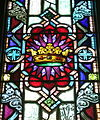 Saint Patrick Catholic Church (Junction City, Ohio) - stained glass, Crown of Glory.jpg