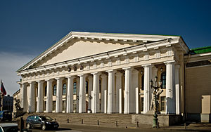 Saint Petersburg Mining University - The building of the Mining Academy (1811) is a Neoclassical masterpiece by Andrey Voronikhin.