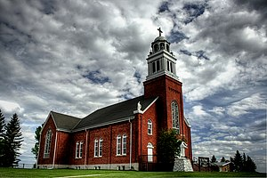 Leduc County - Image: Saint Vital Roman Catholic Church Beaumont Alberta Canada 01A
