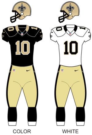 2009 New Orleans Saints season - Image: Saints uniforms 12