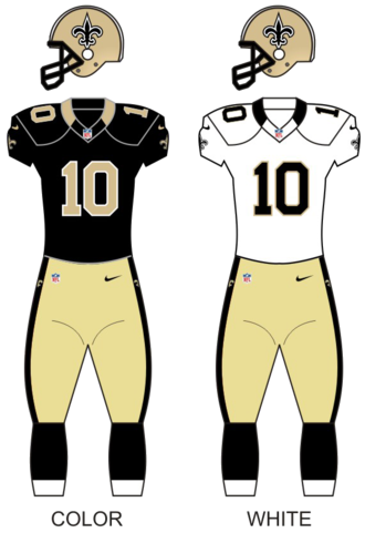 2013 New Orleans Saints season - Image: Saints uniforms 12