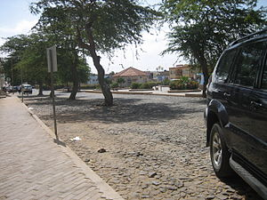 Sal Rei - A square in Sal Rei.