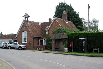 Salford, Bedfordshire - Image: Salford Village Hall and bus shelter (geograph 3014706)