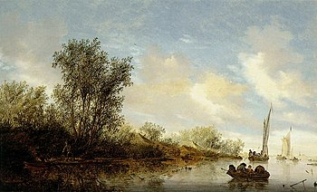 Salomon van Ruysdael, River with Fishermen