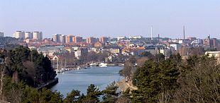 "Panorama view of Södertälje from the new <a href=""http://search.lycos.com/web/?_z=0&q=%22Saltsj%C3%B6bron%22"">Saltsjöbron</a>"
