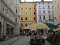 Salzburg - Hagenauerplatz - Mozart's Geburtshaus (cropped).jpg