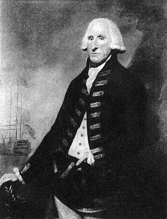 Admiral Sir Samuel Hood who commanded the British naval forces defending the city. Samuel Hood, 1st Viscount Hood - Project Gutenberg eText 16914.jpg