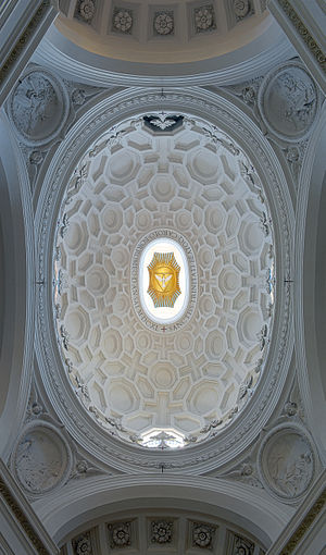 San Carlo alle Quattro Fontane - The dome with its intricate geometrical pattern