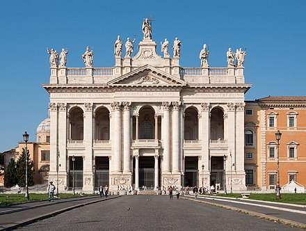 Archbasilica of Saint John Lateran, Rome's Cathedral, built in 324, and partly rebuilt between 1660 and 1734