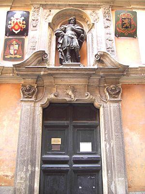San Giuliano dei Fiamminghi, Rome - Entrance of the Church.