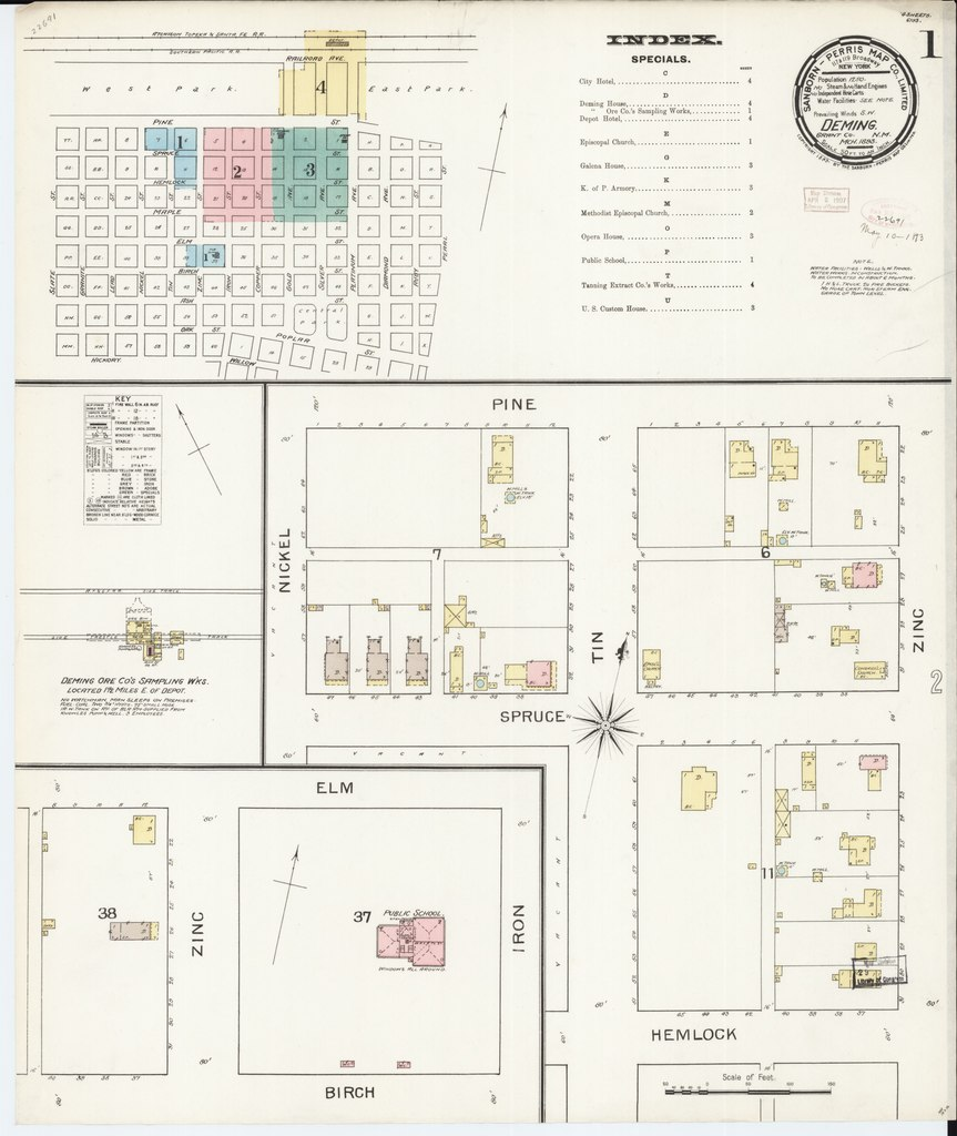 File:Sanborn Fire Insurance Map from Deming, Luna County ...