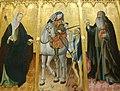 Sant Martí, Santa Úrsula i Sant Antoni Abat, Gonçal Peris, Museu de Belles Arts de València.JPG