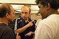 Santanu Chandra - Siddhartha Bhattacherjee - Rangan Datta - Discussion - Wikilearnopedia - Oxford Bookstore - Kolkata 2015-08-23 3800.JPG