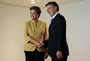 Santos and Rouseff