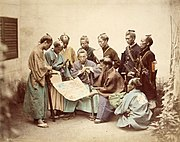 Samurai of the Satsuma clan, during the Boshin War period. Photograph by Felice Beato