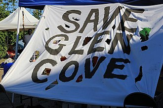 Recognition of Native American sacred sites in the United States - Image: Save Glen Cove