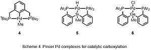 Carbonation - Scheme 4 Pincer Pd complexes for catalytic carboxylation