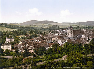 Schmalkalden Place in Thuringia, Germany