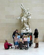 School children in the Louvre.
