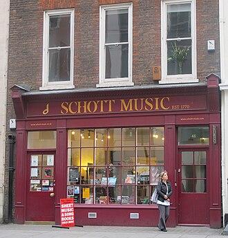 Schott Music - Schott Music store in London