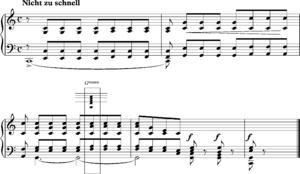 """Suspended chord - Schumann """"Ich grolle nicht"""""""
