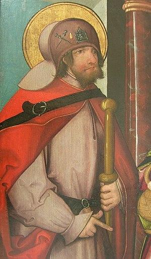 Joyce (name) - Saint Joyce (Judoc in Breton, Joost in Dutch and Josse in French) (660–668), by Swiss painter, c. 1500–1520.