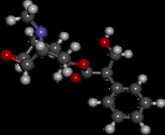 Hyoscine - Image: Scopolamine structure