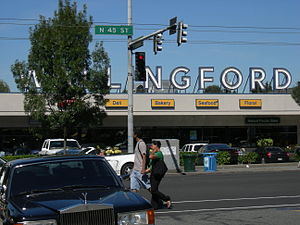 Wallingford, Seattle - Image: Seattle Wallingford sign 01
