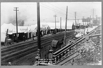 History of Seattle - Second Ave. and Marion St., Seattle, Wash., July 1889