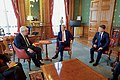 Secretary Kerry and Ambassador Barzun sit With Newly Installed British Foreign Secretary Johnson in London (28335625941).jpg