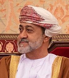 Secretary Pompeo Meets with the Sultan of Oman Haitham bin Tariq Al Said (49565463757) (cropped).jpg
