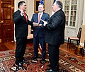 Secretary Pompeo Swears in Brian Bulatao as the new Under Secretary of State for Management (40933732153).jpg