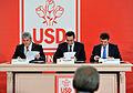 Semnarea protocolului de infiintare a Uniunii Social Democrate de catre liderii PSD, UNPR si PC, la Pala (12436180325).jpg