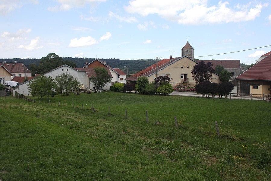 Vue de Septfontaines (Doubs).