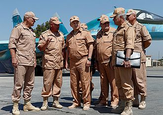 Sergey Shoygu - Sergey Shoigu in the Bassel Al-Assad International Airport in Syria. 18 June 2016