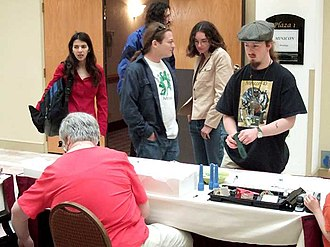 Science fiction convention - Fans registering for Minicon 41