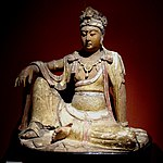 Statue of Guanyin in royal ease, Shanghai Museum