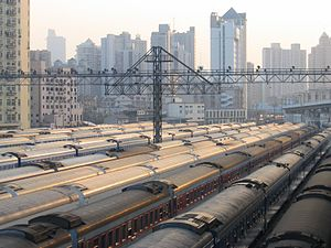 Rail yard - A coach yard in Shanghai, China